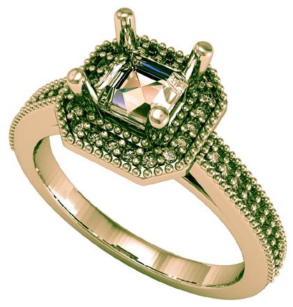 Золотые кольца с инкрустацией